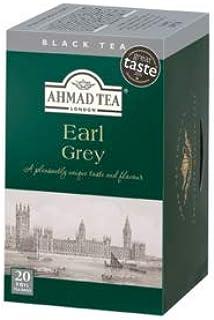 Ahmad Tea – Earl Grey | Schwarztee-Mischung mit Bergamotte | 6x20 Teebeutel á 2 g | Teebeutel mit Band