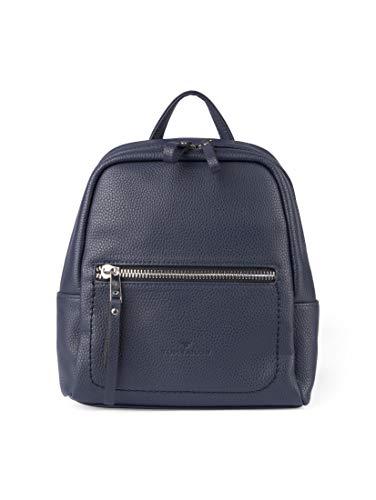 TOM TAILOR Damen Taschen & Geldbörsen Rucksack Tinna Dark Blue Cognac,OneSize