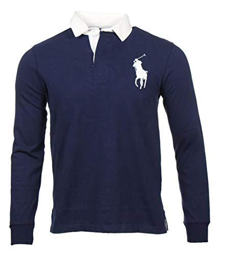Ralph Lauren Herren Langarm Polo - Big Pony - Navy (XL)
