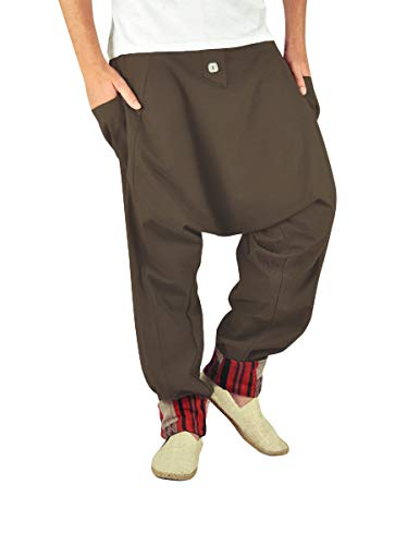virblatt – Haremshose Herren Goa Hose als Hippie Alternative Kleidung - Freudentanz Tank LXL