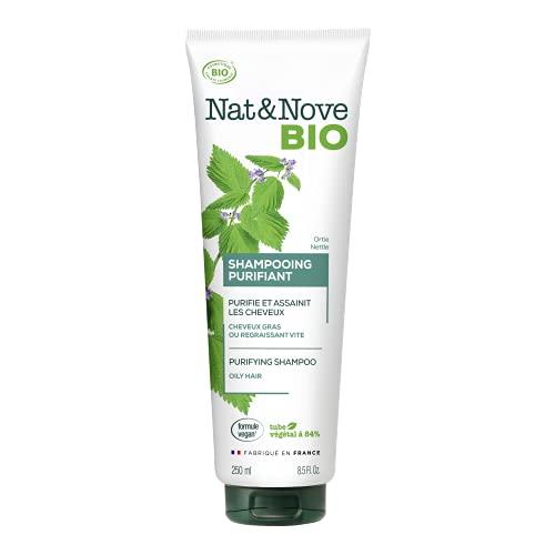Kéranove Naturanove Bio - Shampooing Pureté Certifié Bio Ortie - Pour Cheveux et Cuirs Chevelus Gras - 250 ml