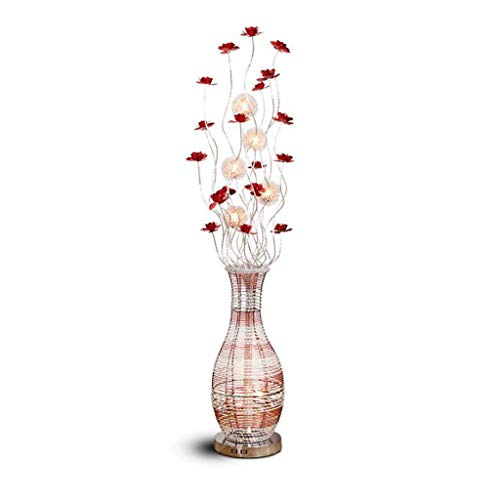 FAFZ Moderne minimalistische aluminium vloerlamp woonkamer eetkamer vaas decoratie nieuw bruiloft producten vloerlamp (grootte: 22 × 22 × 150 cm)