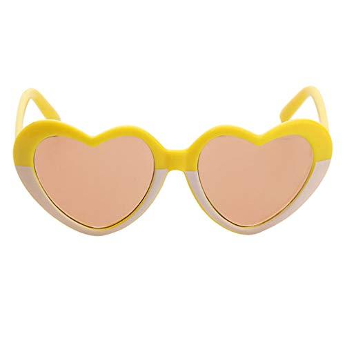 freneci Conjunto de Gafas de Sol con Montura en Forma de Corazón para Muñecas AG American Doll de 18 ''