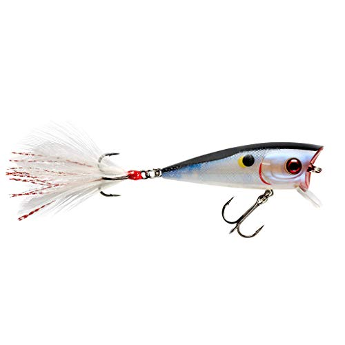 Booyah Prank Topwater Popper Fishing Lure and Shallow-Running Crankbait, Moonphase Shad