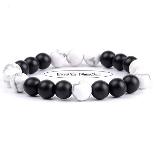 DLIAN Armband voor heren, Boho 8 mm natuurlijk, zwart, bruin, hout, jassprs, match, Afrika turquoise, parelarmband voor vrouwen, handgemaakte Boeddha yoga-sieraden