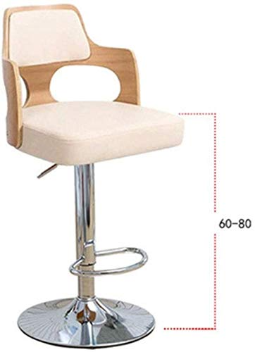 YONGYONGCHONG Sessel Küche Hocker Stühle, höhenverstellbar Leder Barhocker Nussbaum Bentwood Barhocker Zurück Vinylsitz Hocker Stuhl (Color : C9, Size : One Size)