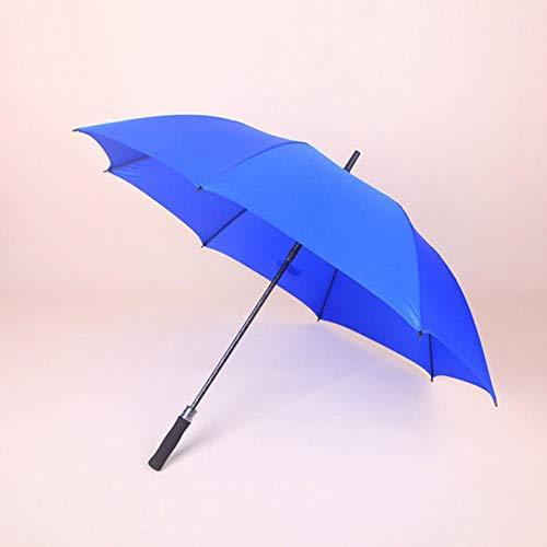 PZXY Regenschirm Reine Farbe gerade Rute 8 Knochen Windschutzscheibe Business Touch Tuch manuelle Führungsholm Golfschirm 96 * 121 * 148 cm