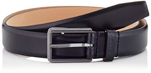 Calvin Klein Two-Finish Square Buckle 30MM Set di Accessori Invernali, Nero, 90 cm Uomo