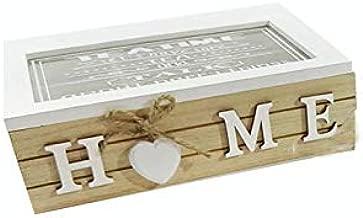 Vilys House Caja de Madera y Tapa Cristal Decorada para Guardar ...