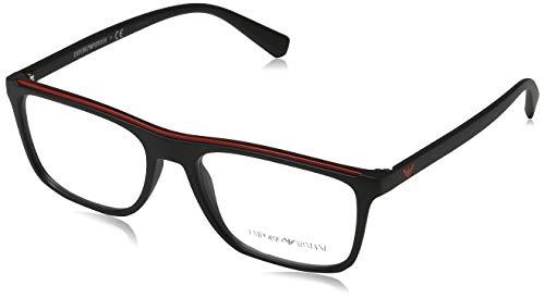 Emporio Armani 5042 Monturas de gafas, Matte Black, 53 para Hombre