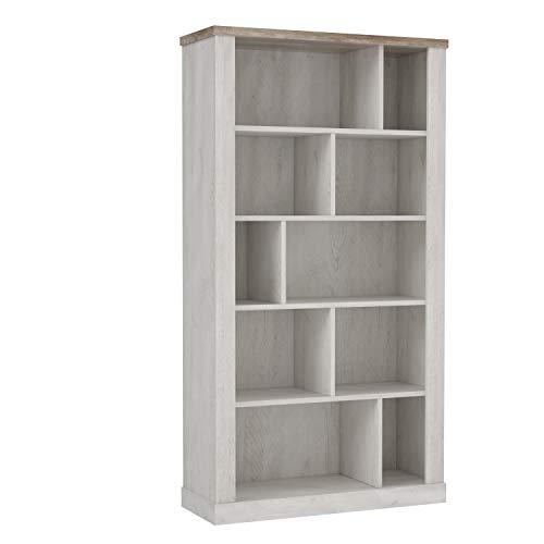 FORTE DURO Regal, Holzwerkstoff, Pnie Weiß /Antikeiche, 114,4 x 212 x 41,3 cm