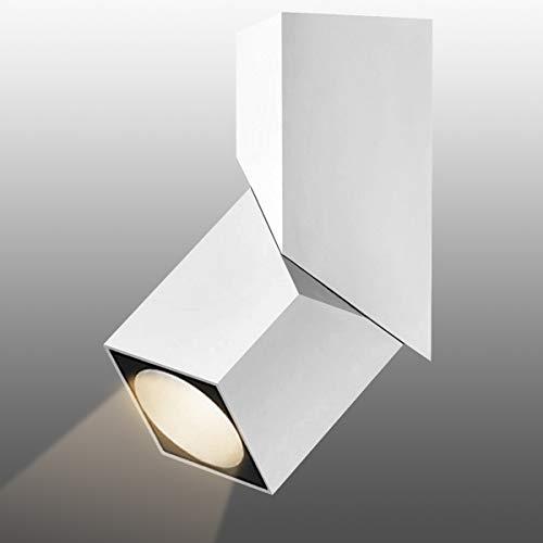 Budbuddy 12W LED Aufbauleuchte Schwenkbar Spotleuchte Spotbalken Weiß Aufbaustrahler Aufputz Deckenlampe für Küche Badezimmer Flur wohnzimmer 4000K Aluminium