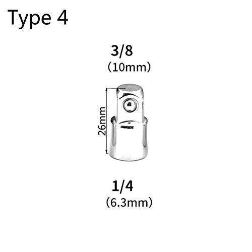 Yintiod Juego de 4 adaptadores de 1//4 3//8 1//2 CRV Drive reductor de impacto de aire