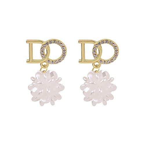 DHDHWL Pendientes de diseño con el sentido de la atmósfera de alta gama, pendientes de perlas (color: A)