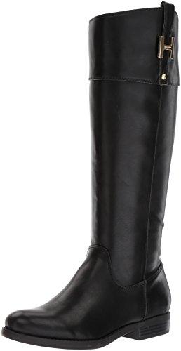 Tommy Hilfiger Women's SHYENNE Equestrian Boot, Black, 6.5