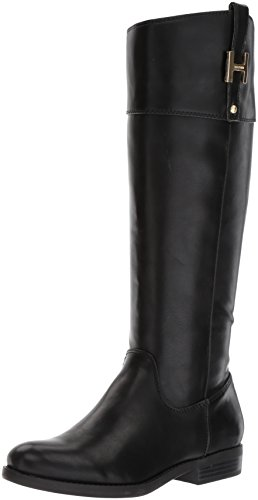 Tommy Hilfiger Women's SHYENNE Equestrian Boot, Black, 9.5 Medium US