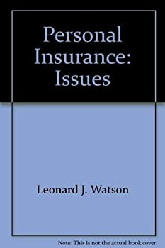 Paperback Personal insurance: Issues Book