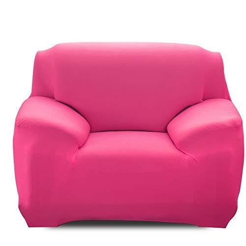 Ryoizen Fundas para Sofa Elástica 1/2/3/4 Plazas Cubre Sofá Universal Cubierta de Sofá de Color Sólido Protector de Sofá o Sillón Lavable Duradera(Rosa,90-140cm)