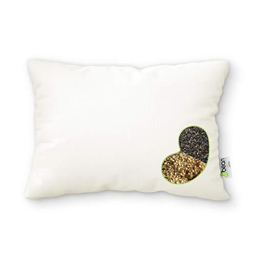 WheatDreamz Almohada estándar – 20 x 26 pulgadas – Algodón orgánico con cierre Shell con 1 lado de mijo orgánico y 1 lado...