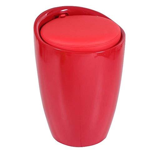 FSYGZJ Taburete de pie Taburete de sofá Silla de vanidad Banco de Zapatos Almacenamiento Otomano Resto Decorativo para el hogar, 13 Colores (Color: Rojo, Tamaño: 24X50CM)