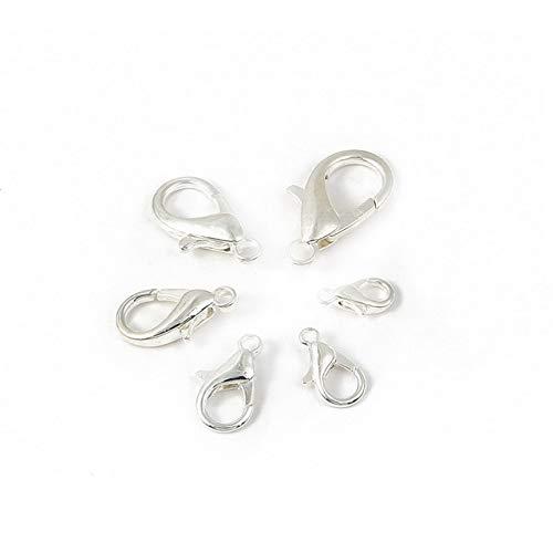 YOTONG 10/12/14/16/18/21MM oro color plata metal broches de langosta ganchos pulsera extremos conectores para joyería collar