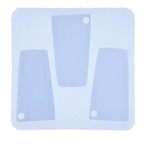 Tumbler Silikonform, DIY Glänzende Wasserglas-Form für Schlüsselanhänger, perforierte Harz-Ton, Handwerkzeug, Formen für Gips a
