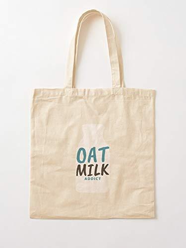 Generico Addict Milk Nutrition Oat Vegetarian Oats Vegan - Sacchi per la spesa in tela con manici, in cotone sostenibile