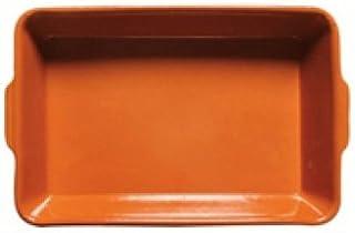Alar molde 2619 – Cerámica – Fuente rectangular 26 x 19 cm, terracota y colores