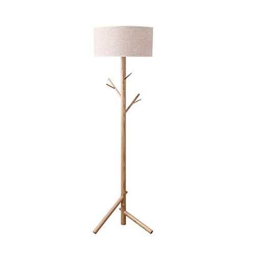 Wvfguj Wandlamp voor binnen Floor Lamp Met Plank, Houten Plank tribunelamp, creatieve persoonlijkheid Kapstok, Modern Reading Lamp for de slaapkamer, woonkamer, kantoor, Home Decoration Europese Minim