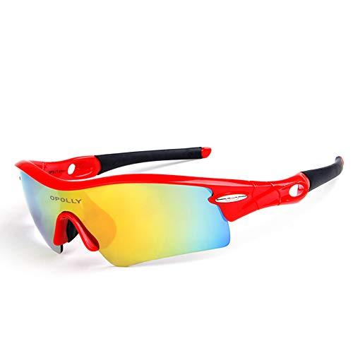 HCCX Fietsen Kleur Spiegel - Outdoor gepolariseerde Bril - PC - Kleurplaten, Geïntegreerd Ontwerp - Impact Weerstand - Geschikt voor Fietsen Running Mountaineering Rijden