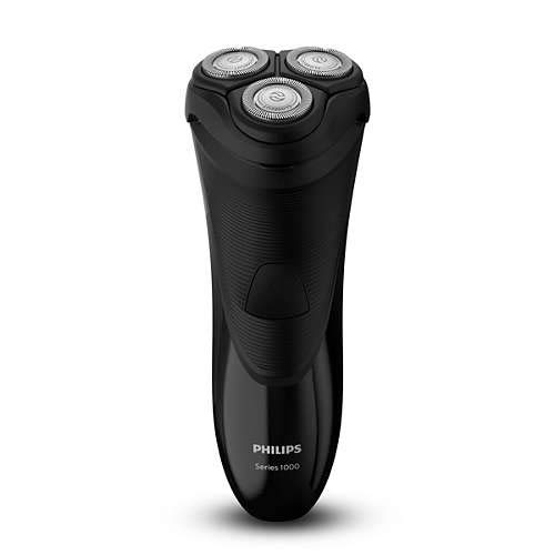 Braun 8710103763932 Philips Herrenrasierer 1000 Series Dry Electric Shaver S1110/04, schwarz