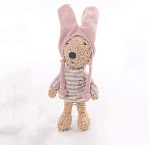 Conejo peluche juguete conejito peluche de peluche con un sombrero de tela suave superficie lavable bebé acompañar el juguete del sueño gran regalo para niñas y niños dormitorio sala de estar decoraci