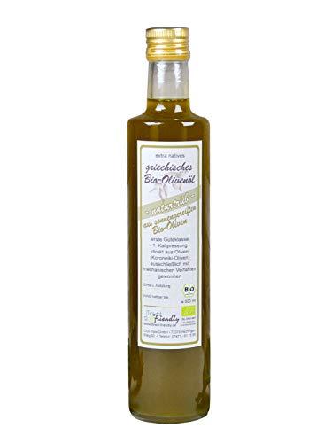 direct&friendly Griechisches Bio Olivenöl extra nativ naturtrüb aus der Region Mani (500 ml)
