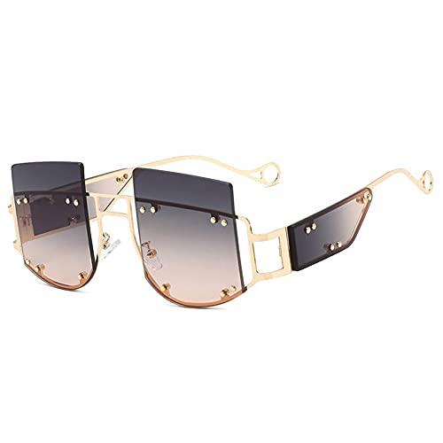 DAIDAICDK Gafas de Sol cuadradas de Gran tamaño Gafas de Sol graduadas para Mujer Gafas de Viaje para Exteriores Accesorios para Coche
