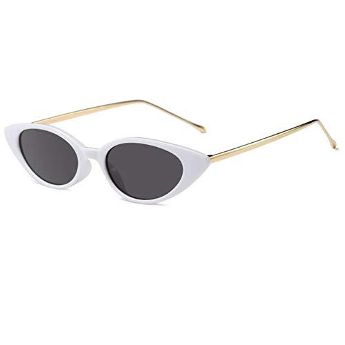 UKKD Gafas de sol hombre señoras ojo de gato gafas de sol mujeres marco pequeño gafas de sol para mujer Glasees Uv400