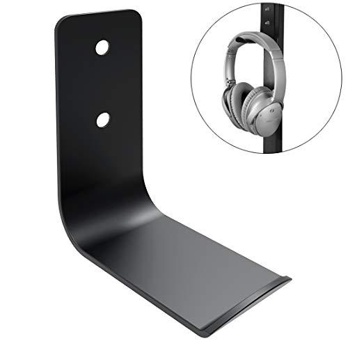 Geekria Soporte para Auriculares Videojuegos/Gancho para audífonos Debajo del Escritorio/para la mayoría de los Auriculares de Juego, como SteelSeries, Turtle Beach, Logitech, Senheiser (Negro)