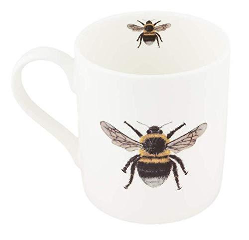 Mug en porcelaine fine pour gaucher Motif abeille