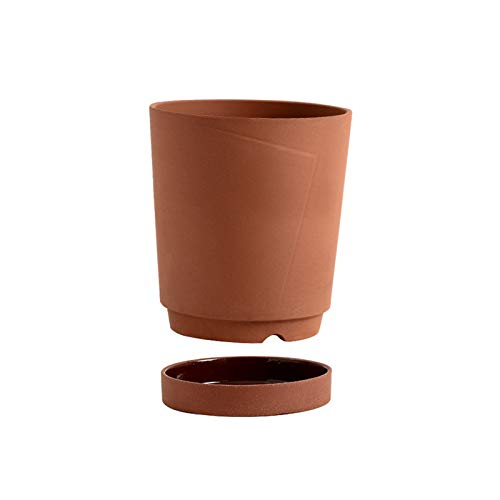 Flower pot Ceramic Flower Plant Pots Modern Decorative Gardening Pot with Drainage Hole and Tray for All House Plants Flowers Herbs Plant Pots (Color : A)
