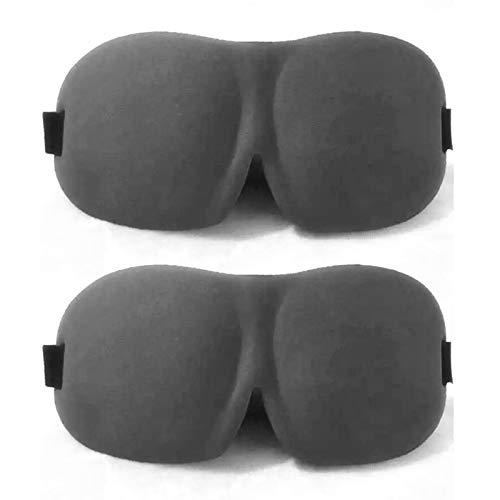JIAHU 2pcs Blindfold 3D Contoured Sleep Eyemasks Women And Men For Sleeping For Complete Darkness