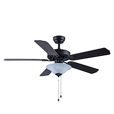 CJOY Ceiling Fan with Light Kit, 52 Inch Pull C...