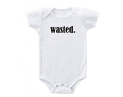 qidushop Baby Comfort Body für Weihnachten, Weihnachtsmann, verschwendete Milch, Schokolade Gr. 3-6 Monate, weiß