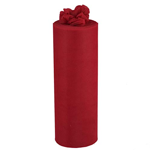 """Efavormart 12"""" x 300 ft Wedding Tulle Roll Fabric for Wedding Party Banquet Event Baby Shower Favors DIY Decorations - Burgundy"""