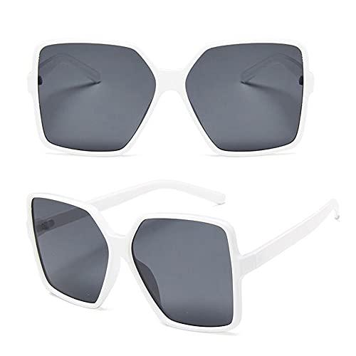 DEECOZY Gafas de sol, Hombres Gafas de Sol de los Hombres Gafas de Sol Rectangulares de las Mujeres Gafas de Sol Vogue Retro Vintage Espejo Polarizado Lentes Polígono Protección UV Gafas de Sol