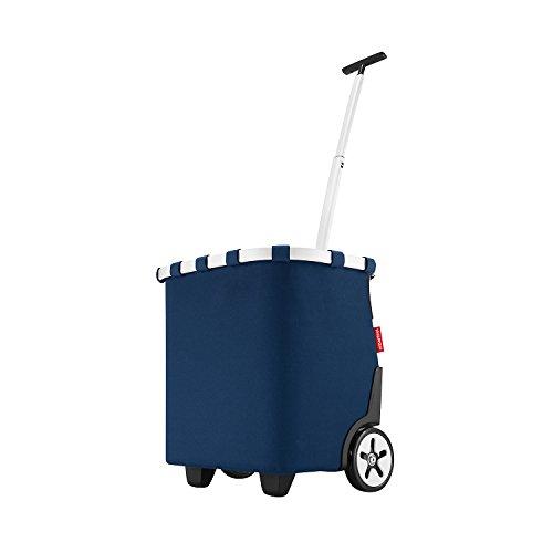 reisenthel carrycruiser OE4059 dark blue – Einkaufstrolley mit 40l Volumen – Mit Clip-Halterung zum Befestigen am Einkaufswagen – B 42 x H 47,5 x T 32 cm