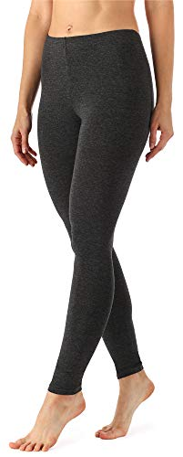 Merry Style Damen Lange Leggings aus Viskose MS10-143 (Dunkelmelange, XL)
