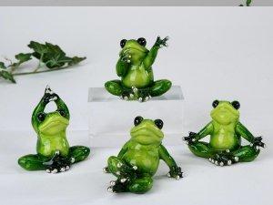 Yoga Frösche Figur Frosch 1 Stück