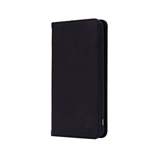 32nd Klassische Series - Lederhülle Hülle Cover für LG G5, Echtleder Hülle Entwurf gemacht Mit Kartensteckplatz, Magnetisch & Standfuß - Schwarz