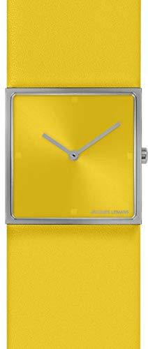 Jacques Lemans Damen-Uhren Analog Quarz One Size Gelb 32016506