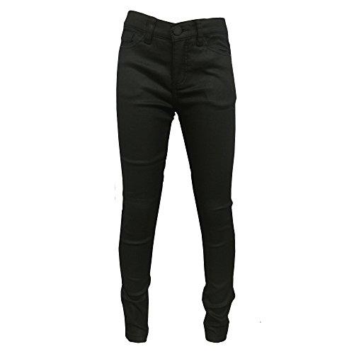 Geisha Export B.V. - Meisjes Jeggings stoffen broek verstelbare band, zwart
