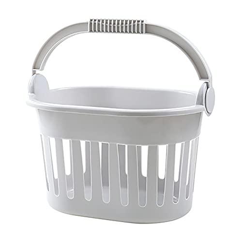 lefeindgdi Cesta organizadora de almacenamiento de baño, simple cesta hueca portátil y portátil, cesta organizadora de plástico reutilizable para gabinetes de cocina y baño
